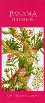 Panama Orchids - Panama Orchids Field Guide (Laminated Foldout Pocket Field Guide) (English and Spanish Edition)
