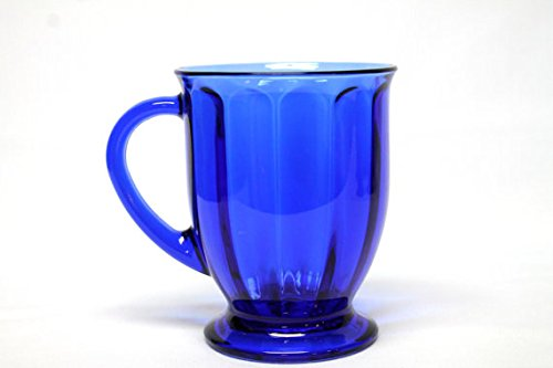 - Anchor Hocking Cafe America Oversized Coffee Mug - Scalloped Optic Blue