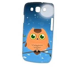 Case Fun Samsung Galaxy S3 (i9300) Case - Vogue Version - 3D Full Wrap - Orange Owl by DevilleART