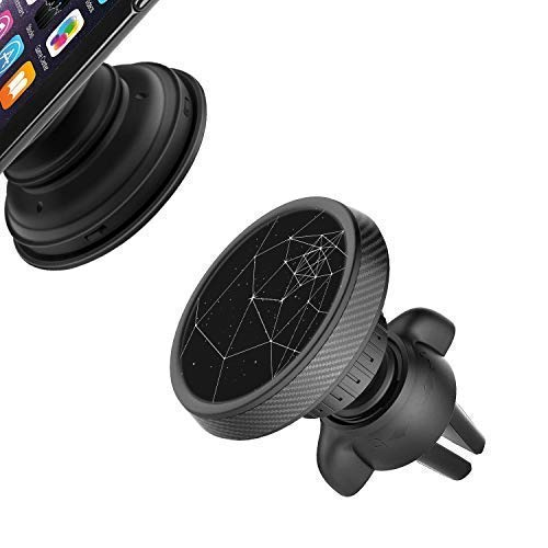 Car Phone Mount for Pop Clip Users [Sturdy Twist Lock], Magnetic Air Vent Pop Out Stand Car Holder for iPhone XS Max XR X 8 Plus 7 6S 6 5S SE, Samsung Galaxy S9 S8 S7 A9 A8 Note 9, Android Phone