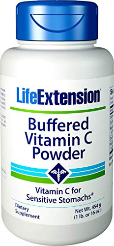 Life Extension Buffered Vitamin C Powder, 454 Grams (Vitamin C Powder Buffered With Calcium And Magnesium)