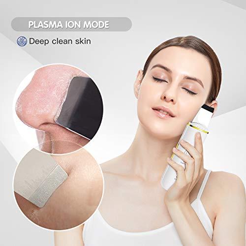 GUGUG Skin Scrubber Skin Spatula, Blackhead Remover Pore Cleaner with 4 Modes, Facial Scrubber Spatula, Comedones…