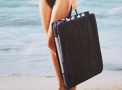 Crivit strandliege  Crivit Beach Camping Beach Chair Adjustable Back Rest Relax ...