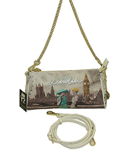 BORSA SHOULDER BAG Y NOT F313 LONDON PARTY CON TRACOLLA LUNGA IN PELLE