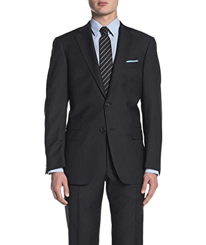 Alfani Mens Slim Fit Wool Pinstripe Sportcoat 44 Short 44S Black Suit Separate