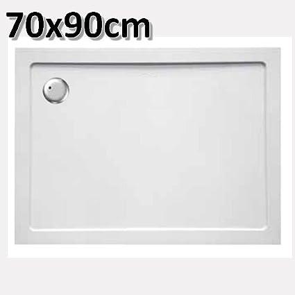 Piatto doccia in acrilico 70x90 cm rettangolare - ultra piatto altezza 3,5  cm