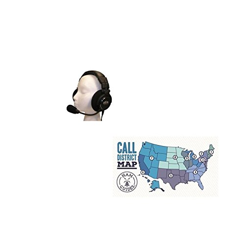 Deluxe Package Mic (Bundle - 2 Items - Heil Sound Headset & boom mic, deluxe, HC-6 and Ham Guides TM Pocket Reference Card)