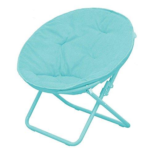 American Kids Solid Faux Fur Saucer Chair Teal Kids