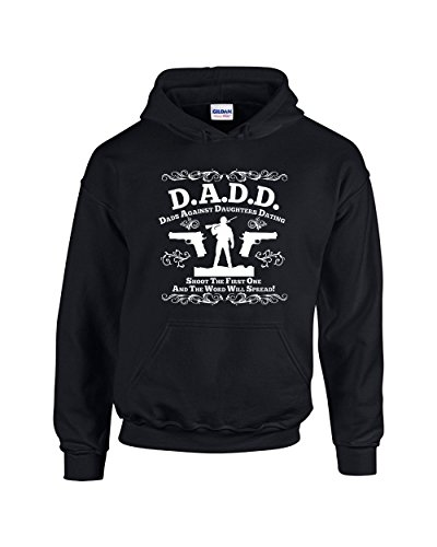 Good Shoppers Fathers Day Gifts D.A.D.D. Dads Against Daughters Dating Guns Unisex Pullover Hoodie Hooded Sweatshirt(Black,XX-Large)