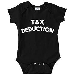 Funny Baby Bodysuit Infant Tax Deduction (BLACK, 6 MONTHS)