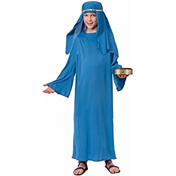 Amazon.com: Biblical Times Pastor Azul Costume Robe, niño ...