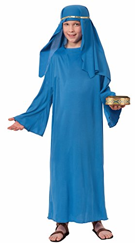 Forum Novelties Biblical Times Shepherd Blue Costume Robe, Child Large ()