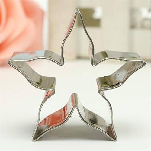 STORE-HOMER - 1pc DIY Stainless Steel Cookie Cutter Rose Flower Calyx Serrate Leaves Biscuit Fondant Cake Mould Icing Mold Tool