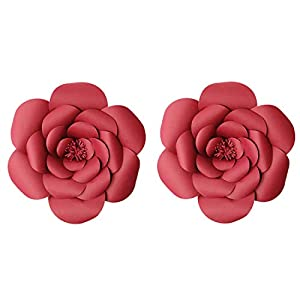 LG-Free 8inch 12inch Paper Flower Backdrop Decoration Party Paper Flower Wedding Rose Flower Wall Backdrop DIY Paper Handmade Craft for Nursey,Baby Shower,Birthday,Home Decor 8