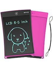 NEWYES LCD Schrijfbord,8.5inch Tablet Uitwisbaar, Draagbare Doodle Mini Board, Kid Toys Verjaardagscadeau Leerhulpmiddel voor Jongens en Meisjes (Roze)