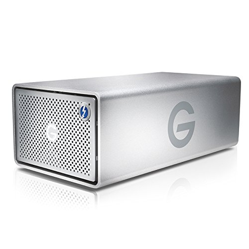 G-Technology 20TB G-RAID with Thunderbolt 2 and USB 3.0, Removable Dual Drive Storage System, Silver - 0G05012