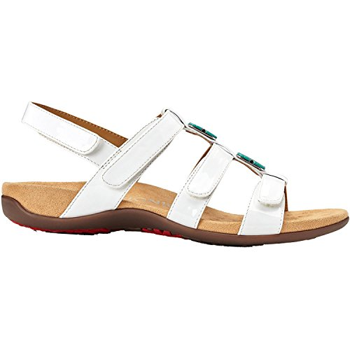 Vionic Women's by Orthaheel, Amber Sandal White Patent 7 M