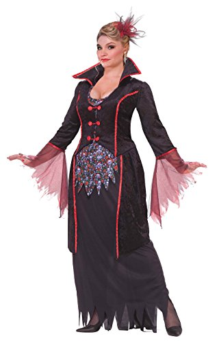 Plus Size Womens Vampire Costumes (Forum Novelties Women's Plus-Size Lady Von Blood Vampire Costume, Black, Plus)