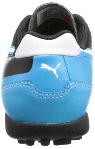 Puma - Botas de fútbol infantil Negro (Schwarz (black-white-fluo blue 07))