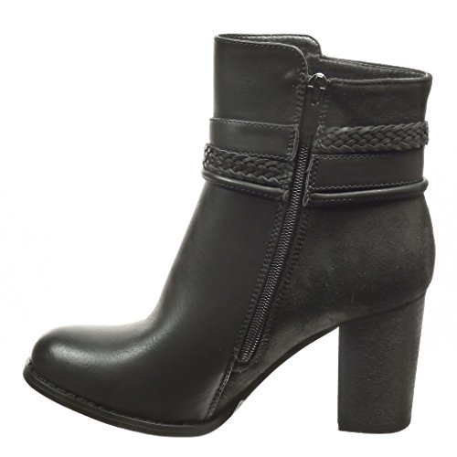 ... Angkorly - damen Schuhe Stiefeletten - Low boots - String Tanga - Schleife  Blockabsatz high heel ...