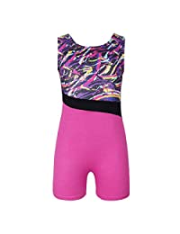 Holyangtech Gymnastics Leotards Girls Gyms Athletic Leotard Dance Wear one-Piece