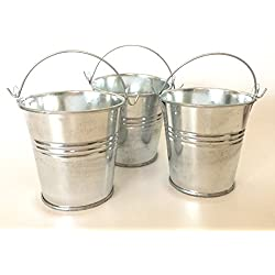 Goldenvalueable 2.8 Inch Mini Metal Kids Party Gift Buckets and Gardening, Pack of 12
