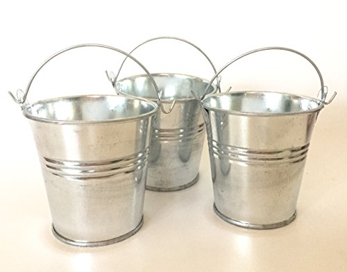 Goldenvalueable 2.8 Inch Mini Metal Kids Party Gift Buckets and Gardening, Pack of -