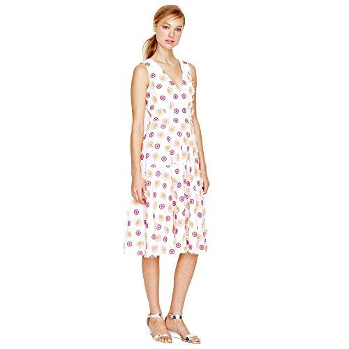 Bianco A Fiori J Vestito Flower Dress 6 Embroidered Ricamati Us White Equipaggio J Noi Crew 6 TqOnU