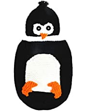 TOYANDONA Newborn Baby Crochet Knit Costume Penguin Photography Prop Jumpsuit Pajamas Animals Playsuits Cosplay Outfit for Photo Kids Picture Baby