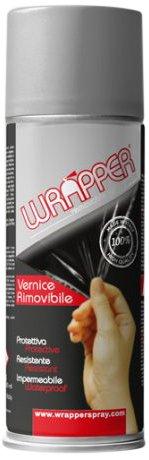 Quattroerre 16410 Wrapper Spray Vernici Rimovibili Tinta RAL 7001, Argento Quattroerre Italia