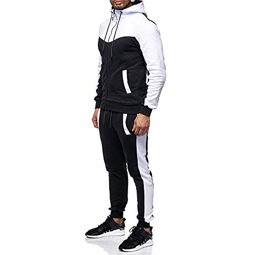 Zainafacai Fashion Tracksuits, 2018Mens Winter Athletic Zipper Hoodie Jacket Coat Sweatpants Sports Gym Sportswear