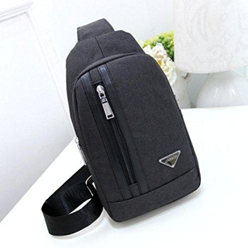 Sports Leegor black Backpack Unbalance Crossbody Bag Bag Messenger Canvas Unisex Shoulder ArTvnBqrx5