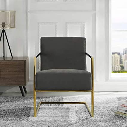 Admirable Velvet Armchair Mid Century Style Accent Chair Grey Gmtry Best Dining Table And Chair Ideas Images Gmtryco