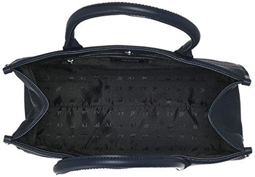 Armani Jeans Damen Borsa Shopping Henkeltasche, 30x15x35 cm Blau (Dark Navy)