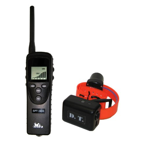 DT Systems SPT2430 Super Pro e-Lite Trainer Water Proof, Professional Dog Training Collar with Beeper-Locator ()