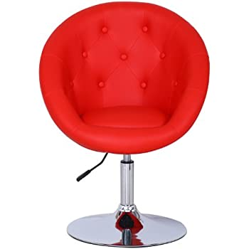 Amazon Com Coaster 102583 Round Back Swivel Chair White