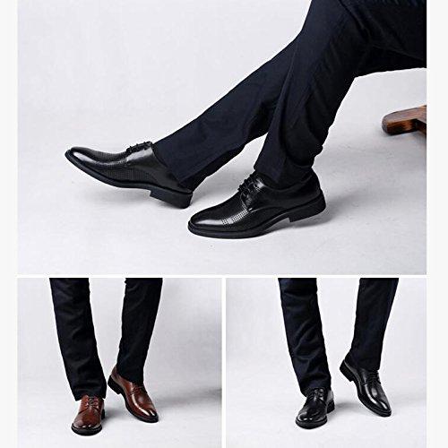 YXLONG Cool Chaussures Hommes Sandales En Cuir Respirant été Affaires Robe Hommes Chaussures Casual Creux black LPi2D2yf