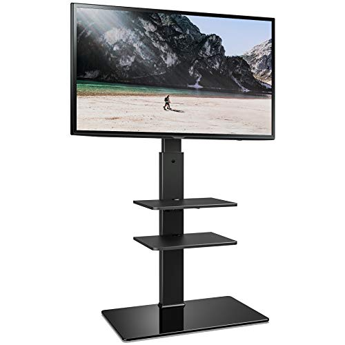 - FITUEYES Universal TV Stand with Swivel Mount Height Adjustable for 32-65 Inch,TT307001MB,Two Kinds of Packaging Random Delivery