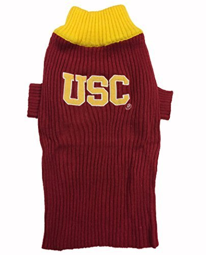 Pets First Collegiate USC Trojans V-Neck Dog Sweater, Medium by Pets First by Pets First