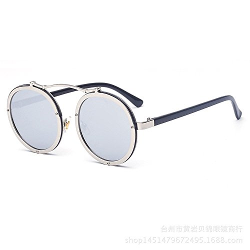 hommes Quatre Shop et de confortables rondes pour Lunettes 6 soleil Verres soleil femmes lunettes de lunettes métalliques axSwqOfB4a