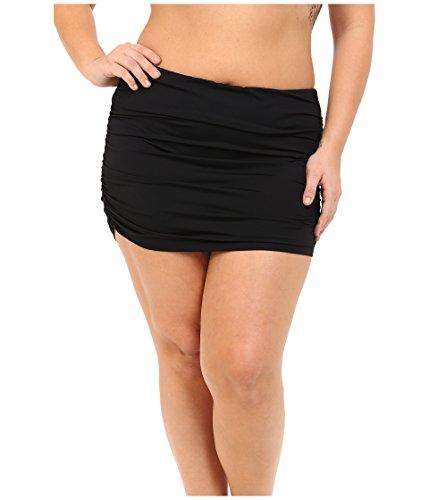 50d693cfa6 LAUREN Ralph Lauren Women's Plus Size Beach Club Solids Ultra High Waist  Skirted Hipster Bottoms Black Swimsuit Bottoms