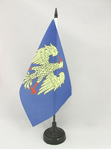 BANDIERA DA TAVOLO FRIULI-VENEZIA GIULIA 21x14cm - PICCOLA BANDIERINA FRIULANA - REGIONE ITALIA 14 x 21 cm - AZ FLAG