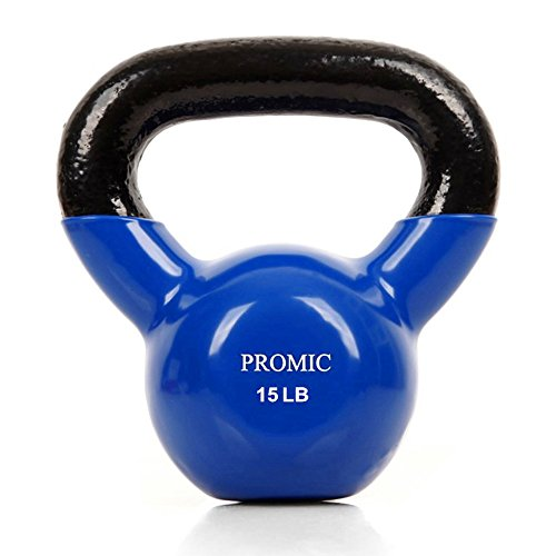PROMIC Fitness Coated Kettlebell Single