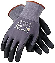 PIP 34-874/L Maxi Flex Ultimate 34874 Foam Nitrile Palm Coated Gloves, Gray, Large (Pack of 12)