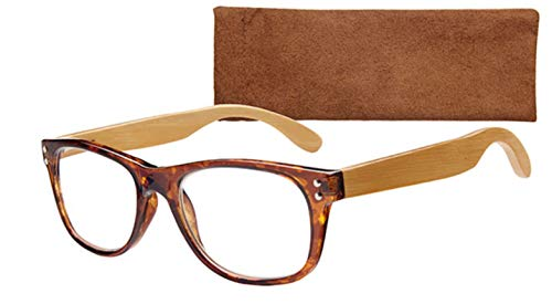 ICU Eco Argo Reading Glasses, Dark Brown With Soft Case
