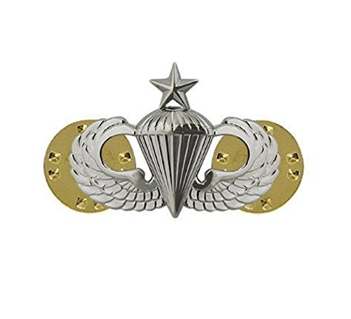 Army Badge Miniature - Vanguard ARMY DRESS BADGE: SENIOR PARACHUTIST - MINIATURE, MIRROR FINISH