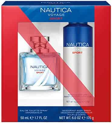 Nautica Voyage Sport 2Piece Gift Set With 1.7 Oz Eau De Toilette & 6 Oz Body Spray - Total Retail Value $40, Gift set