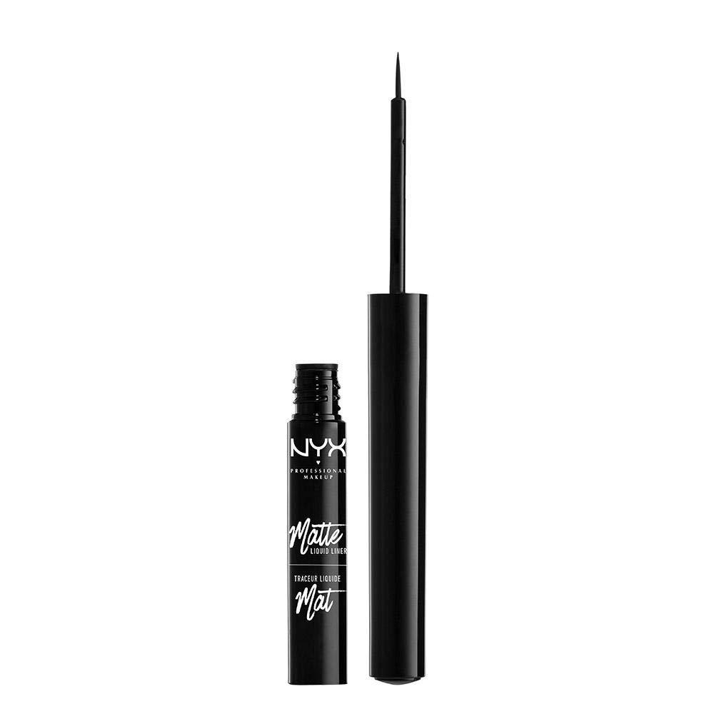 NYX PROFESSIONAL MAKEUP Matte Liquid Liner, Waterproof Eyeliner - Black, Vegan Formula