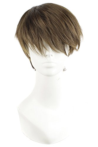 Short Straight Wig-Light Brown
