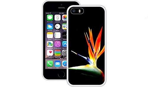 Paradiesvogel | Handgefertigt | iPhone 5 5s SE | Weiß TPU Hülle